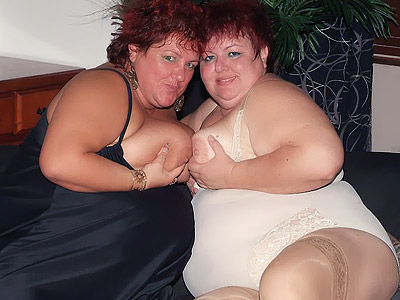 Hefty Chicks Sharing a Cock
