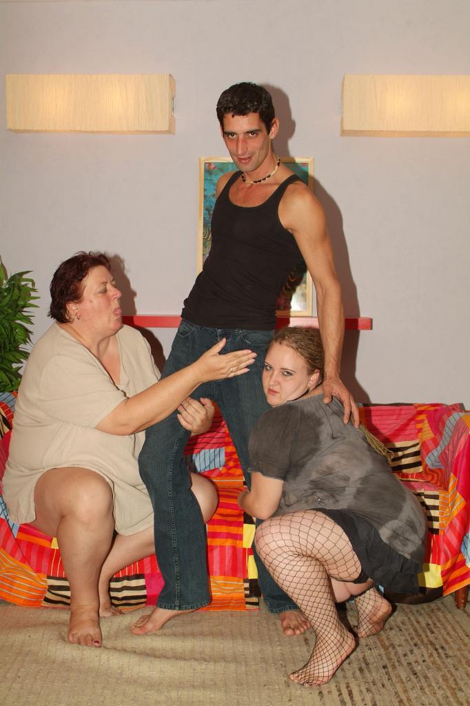 Hot BBW Threesome Fuck