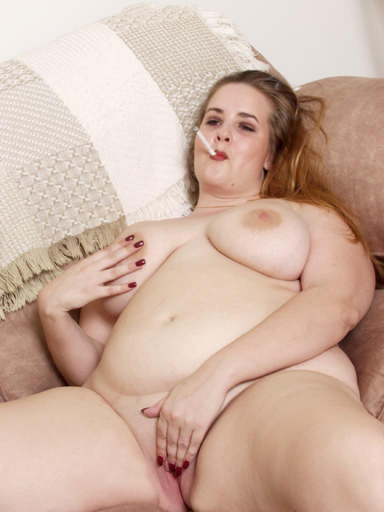 Blonde BBW Goes Solo